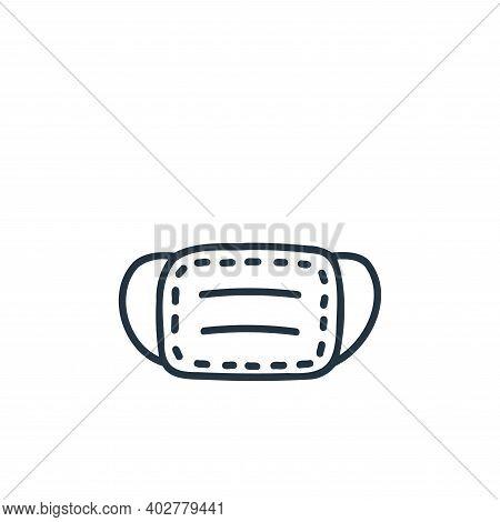 medical mask icon isolated on white background. medical mask icon thin line outline linear medical m
