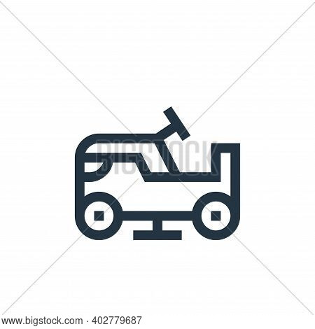 ice resurfacer icon isolated on white background. ice resurfacer icon thin line outline linear ice r