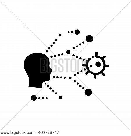 Super Spreading Glyph Icon. Disease Spreading Concept. Covid19, Virus Disease, Influenza Transmissio