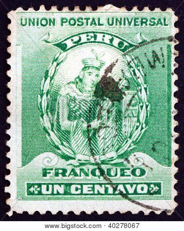 Postage stamp Peru 1898 Manco Capac, Inca Dynasty