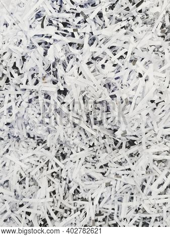 Shredded Documents And Other Paperwork Going To Be Recycled.