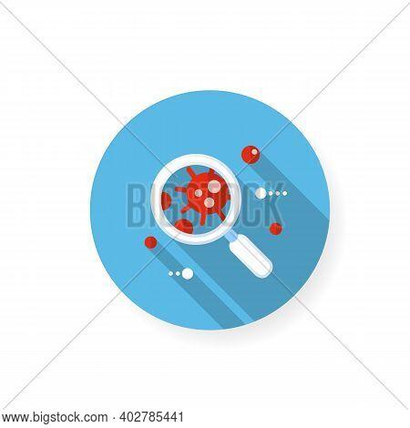Pathogen Flat Icon. Causative Organism. Disease Spread Concept. Covid19, Virus Disease, Influenza Tr