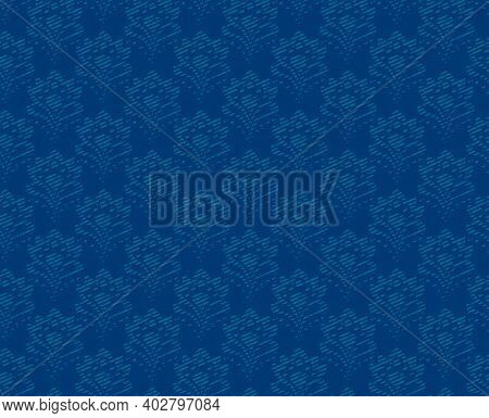 Seamless Background - Abstract Blue Flowers. Eps10 Vector.