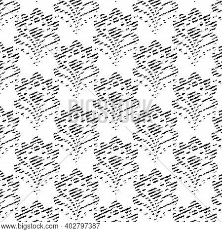 Seamless Background - Abstract Floral Tapestry Texture. Eps10 Vector.