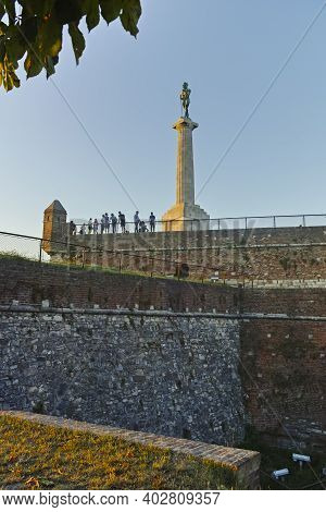 The Victor Monument At Belgrade Fortress, Serbia