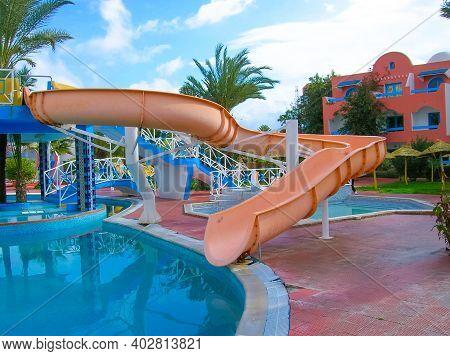 Djerba, Tunisia - January 03, 2008: The Sea Resort, Hotel Building On The Island Of Djerba