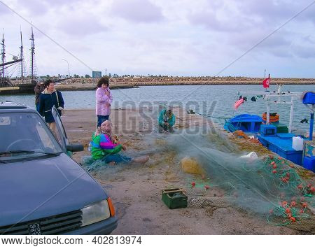 The Local People At Port Of Djerba In Tunisia