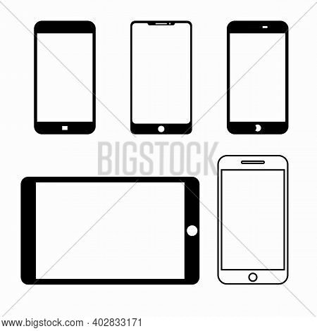 Set Phone Vector. Call  Vector. Mobile Phone Smartphone Device Gadget. Telephone. Mobile Phone Vecto