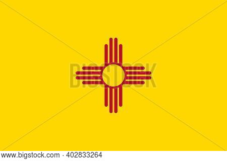 Official Large Flat Flag Of New Mexico Horizontal