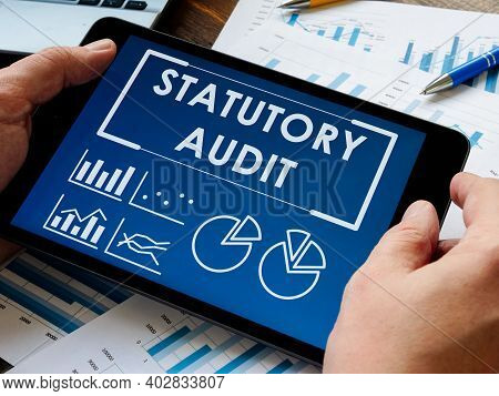 Statutory Audit Report On The Tablet. Auditor Inspect Data.