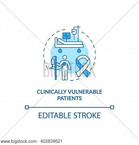 Clinically Vulnerable Patients Concept Icon. Covid Vaccination Priority List. Dangerous Disease Cure