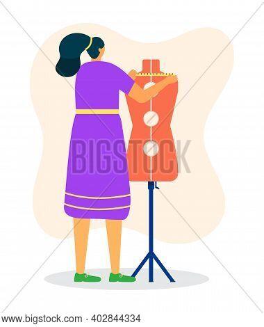 Woman Tailor Measurement Fashion Mannequin Dress, Female Professional Dressmaker Standing Dummy Flat