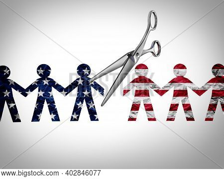 United States Crisis And A Divided America In Chaos Or Us Social Violence And Political War For Usa