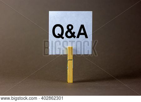 Questions And Answers Symbol. White Paper. Words 'q And A, Questions And Answers'. Beautiful Grey Ba