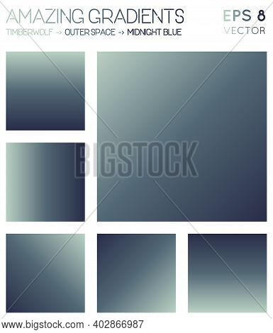 Colorful Gradients In Timberwolf, Outer Space, Midnight Blue Color Tones. Actual Background, Beautif