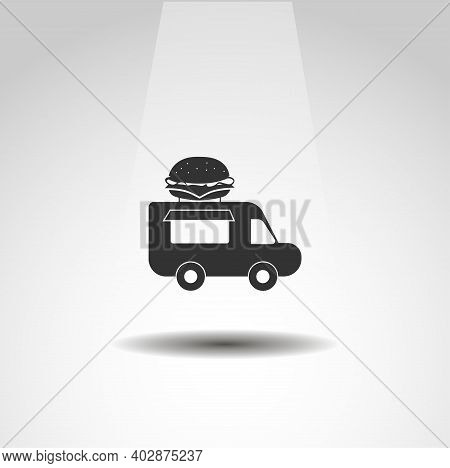 Food Truck Isolated Vector Icon. Food Design Element