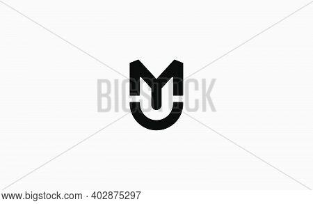 Mu Um Letter Monogram Logo Design Vector Illustration