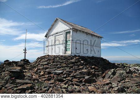 Northwest Peak Lookout On The Summit Of Northwest Peak In Northwest Peaks Scenic Area, Montana