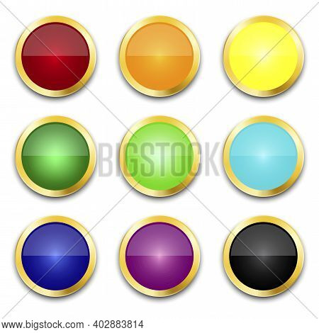 Multicolored Buttons. Retro Multicolored Buttons, Great Design For Any Purposes. Stock Image. Eps 10