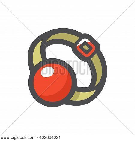 Ball Gag Accessory Vector Icon Cartoon Illustration