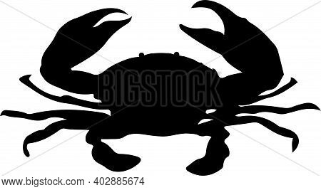Crab Icon Isolated On White Background , Sea, Sea Life, Seafood