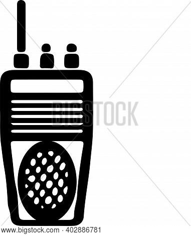 Two Way Radio Icon Isolated On White Background