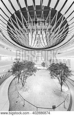 Hong Kong, China  - 22 December, 2020 :  Interior Of Xiqu Centre, A World-class Arts Venue For Xiqu