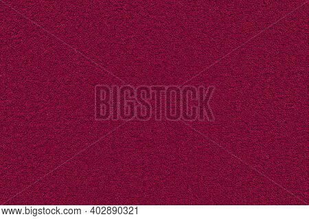 Red Terry Towel Background. Texture Of Terry Cloth