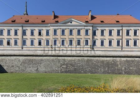 Rzeszow, Poland - August 26, 2020 : Facade Of Rzeszow Castle, Built In The 15th Century, Rebuilt In