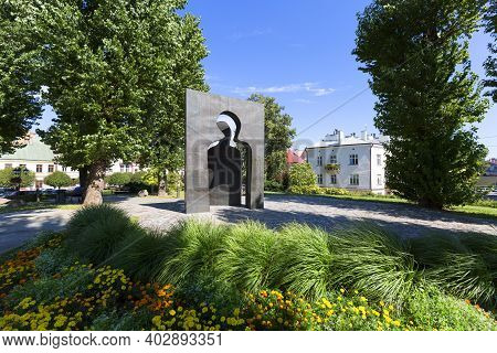 Rzeszow, Poland - August 26, 2020 : Sculpture By Jozef Szajna Entitled