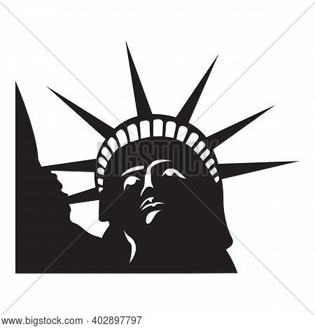Statue Of Liberty Icon Illustration Graphic Design. Statue Of Liberty