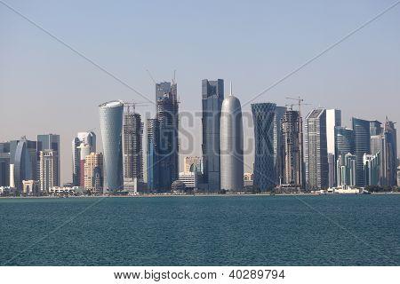 Skyline Of The Doha Downtown