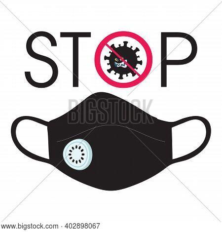 Stop Coronavirus. Coronavirus Outbreak. Pandemic Stop Flu Outbreak. Pandemic Medical Concept With Da