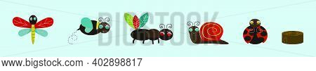 Set Of Cute Critter Cartoon Icon Design Template With Various Models. Modern Vector Illustration Iso