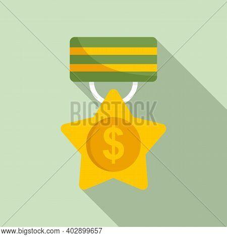 Trade War Medal Icon. Flat Illustration Of Trade War Medal Vector Icon For Web Design