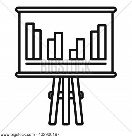 Trade War Banner Graph Icon. Outline Trade War Banner Graph Vector Icon For Web Design Isolated On W