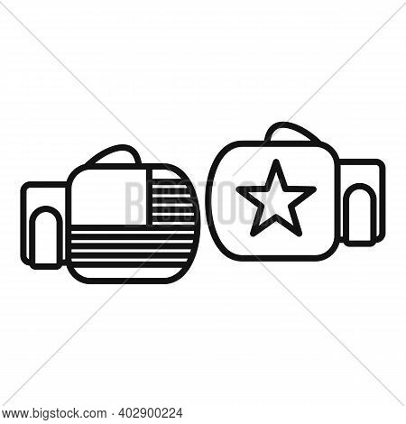 Trade War Boxing Gloves Icon. Outline Trade War Boxing Gloves Vector Icon For Web Design Isolated On
