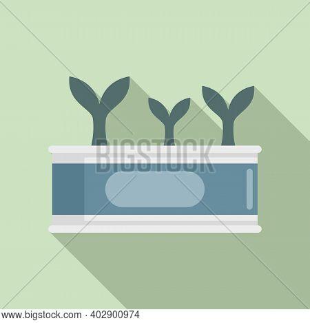 Swedish Fish Tin Can Icon. Flat Illustration Of Swedish Fish Tin Can Vector Icon For Web Design