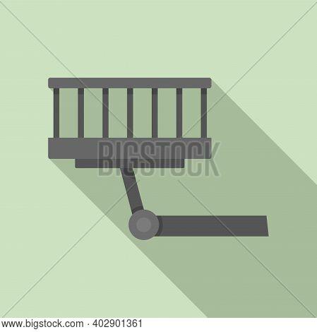 Industrial Climber Lift Icon. Flat Illustration Of Industrial Climber Lift Vector Icon For Web Desig