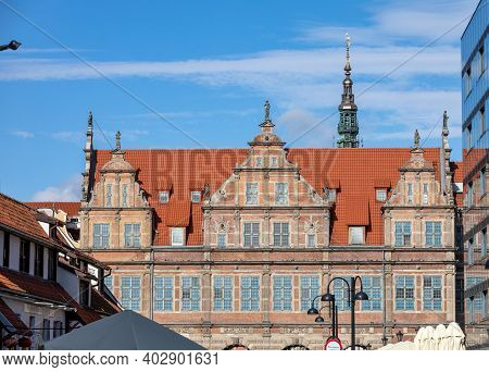 Gdansk, Poland - Sept 6, 2020: The Green Gate In Gdańsk, Poland,  It Is Situated Between Long Market