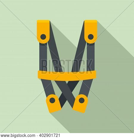 Industrial Climber Security Belt Icon. Flat Illustration Of Industrial Climber Security Belt Vector
