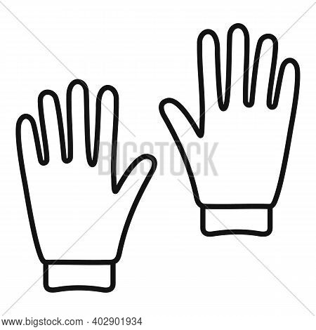 Industrial Climber Gloves Icon. Outline Industrial Climber Gloves Vector Icon For Web Design Isolate