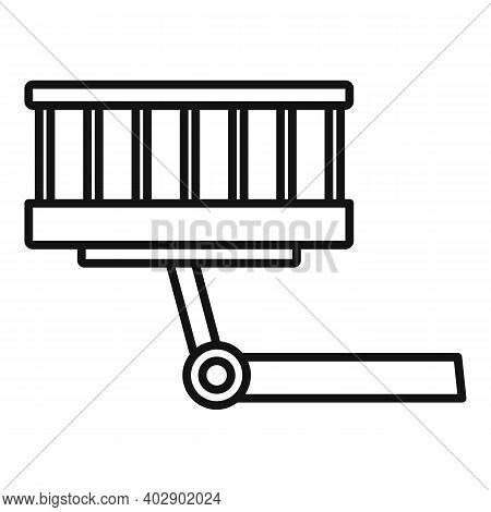 Industrial Climber Lift Icon. Outline Industrial Climber Lift Vector Icon For Web Design Isolated On