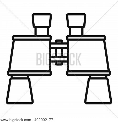 Industrial Climber Binoculars Icon. Outline Industrial Climber Binoculars Vector Icon For Web Design