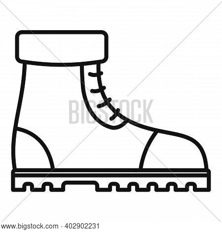 Industrial Climber Boots Icon. Outline Industrial Climber Boots Vector Icon For Web Design Isolated