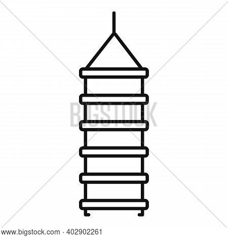 Industrial Climber Rope Ladder Icon. Outline Industrial Climber Rope Ladder Vector Icon For Web Desi