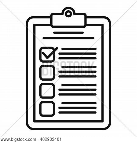 Realtor Clipboard Icon. Outline Realtor Clipboard Vector Icon For Web Design Isolated On White Backg