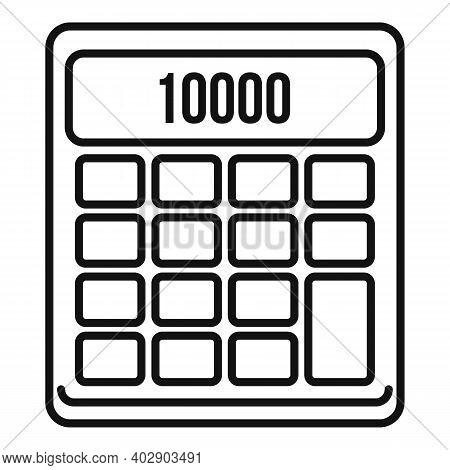 Realtor Calculator Icon. Outline Realtor Calculator Vector Icon For Web Design Isolated On White Bac
