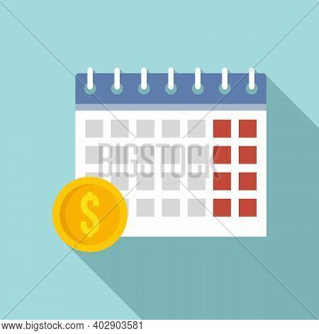 Calendar Utilities Icon. Flat Illustration Of Calendar Utilities Vector Icon For Web Design