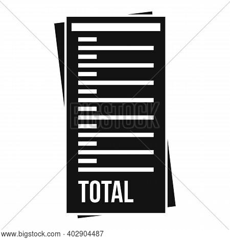 Total Payment Utilities Icon. Simple Illustration Of Total Payment Utilities Vector Icon For Web Des